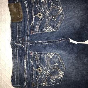 bedazzled flare jeans
